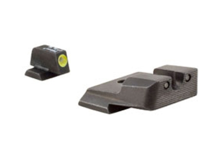 Trijicon HD Night Sight Set Smith &amp; Wesson M&amp;P Steel Matte 3-Dot Tritium Green with Yellow Front Dot Outline