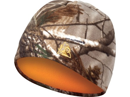 Rocky Reversible Fleece Beanie Insulated Polyester Realtree AP Camo and Blaze Orange