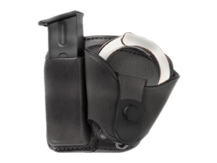 Bianchi 45 Magazine and Cuff Combo Paddle Glock 17, 19, 22, 23, S&W SW9F Leather Black