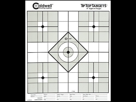 Caldwell Tip Top Target 8&quot; Sight In Package of 10