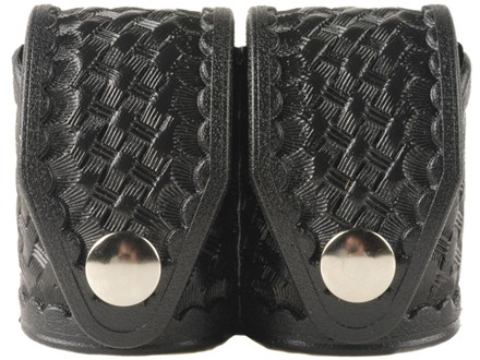 HKS Double Speedloader Pouch Hytrel Basketweave Black Large