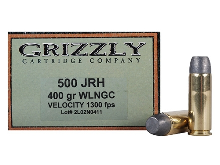 Grizzly Ammunition 500 JRH 400 Grain Wide Flat Nose Gas Check Box of 20