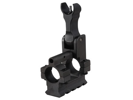 Yankee Hill Machine Gas Block with Flip-Up Hooded Front Sight &amp; Bottom Rail Bolt-On Mount AR-15, LR-308 Standard Barrel .750&quot; Inside Diameter Steel Matte