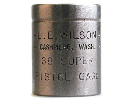 L.E. Wilson Max Cartridge Gage 38 Super