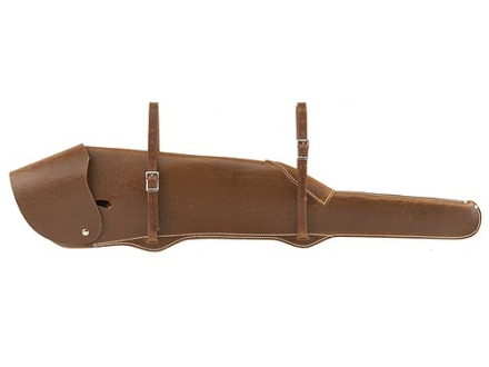 Weaver Scoped Rifle Scabbard Leather Burgundy