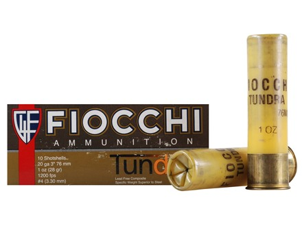 Fiocchi Tundra Ammunition 20 Gauge 3&quot; 1 oz #4 Non-Toxic Tungsten Shot Box of 10
