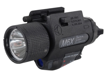 Insight Tech Gear M6X Tactical Illuminator Flashlight with Laser Halogen Bulb  fits Glock-Style Rails Polymer Black