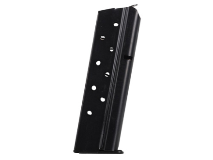 Metalform Magazine 1911 Government, Commander 9mm Luger 9-Round Steel Blue Flat Follower Removable Base