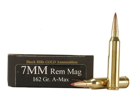 Black Hills Gold Ammunition 7mm Remington Magnum 162 Grain Hornady A-Max Box of 20