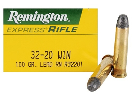 Remington Express Ammunition 32-20 WCF 100 Grain Lead Flat Nose Box of 50