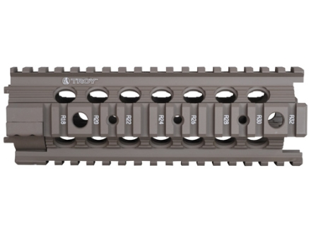 Troy Industries 7&quot; MRF-C Battle Rail Free Float Quad Rail Handguard AR-15 Flat Dark Earth
