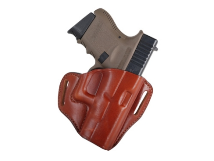 Bianchi 57 Remedy Outside the Waistband Holster Right Hand Glock 26, 27, 33 Leather Tan