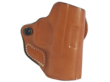 DeSantis Mini Scabbard Outside the Waistband Holster Right Hand Springfield XDS 45 Leather Tan
