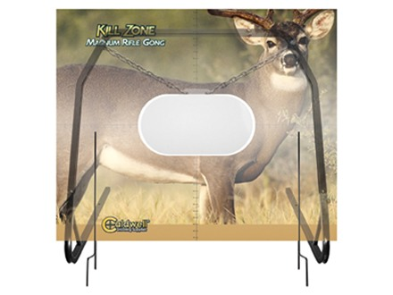 Caldwell Kill Zone Rifle Gong with Natural Series Deer Target and Stand AR-550 Steel
