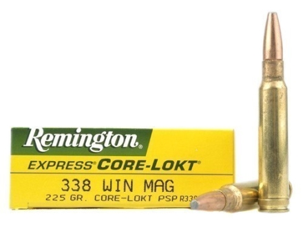 Remington Express Ammunition 338 Winchester Magnum 225 Grain Core-Lokt Pointed Soft Point Box of 20
