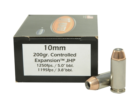 Doubletap Ammunition 10mm Auto 200 Grain Nosler Jacketed Hollow Point