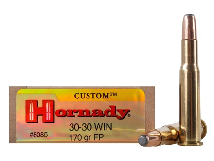 Hornady Custom Ammunition 30-30 Winchester 170 Grain Flat Point Box of 20