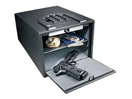 "GunVault Biometric MultiVault Personal Electronic Safe 10"" x 8"" x 14"" Black"