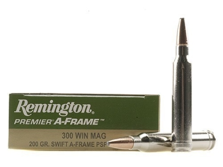 Remington Premier Ammunition 300 Winchester Magnum 200 Grain Swift A-Frame Semi-Spitzer Box of 20