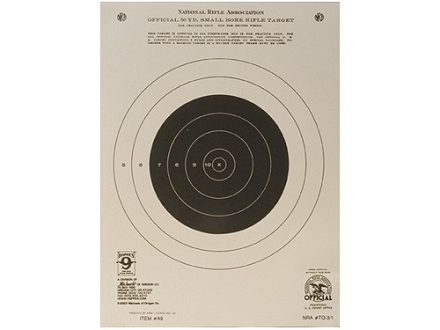 Hoppe&#39;s Single Bull Target 50 Yard Rifle Package of 20