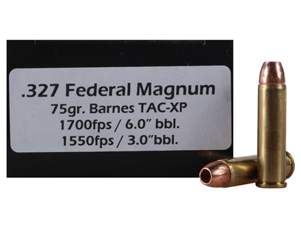 Doubletap Ammunition 327 Federal 75 Grain Barnes TAC-XP Hollow Point Lead-Free Box of 50