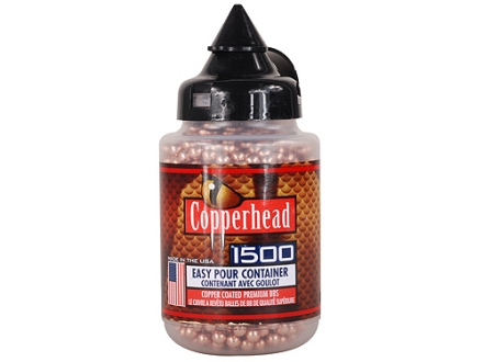 Crosman Copperhead Airgun BBs 177 Caliber 5.28 Grain BBs Carton of 1500