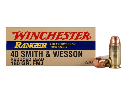 Winchester Ranger Ammunition 40 S&amp;W 180 Grain Full Metal Jacket Box of 50