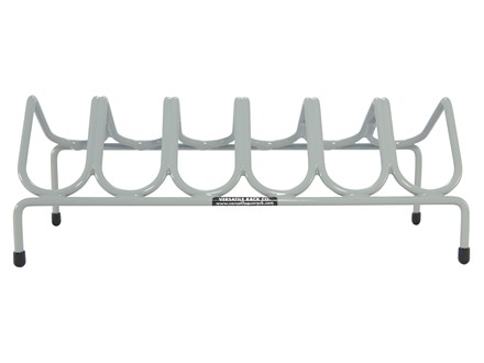Versatile Gun Rack 6 Pistol Gun Rack Vinyl Coated Steel Gray