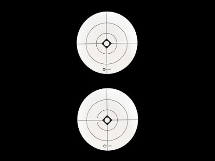 Caldwell Shooting Spots 3&quot; Crosshairs Pack of 10 Sheets 2 Spots per Sheet White