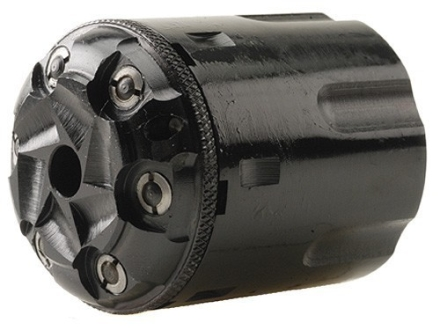 Howell's Old West Conversions Drop-In Conversion Cylinder 44 Caliber Pietta 1858 Remington Steel Frame Black Powder Revolver 45 Colt (Long Colt) Fluted 6-Round Blue