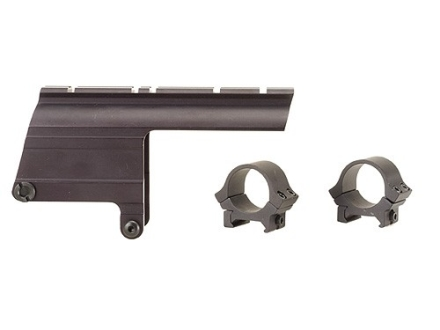 "B-Square Shotgun Saddle Mount with 1"" Rings Ithaca 37 and 87 12 Gauge Matte"