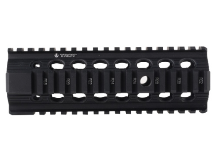 Troy Industries 7.2&quot; Bravo Battle Rail Free Float Quad Rail Handguard AR-15 Black