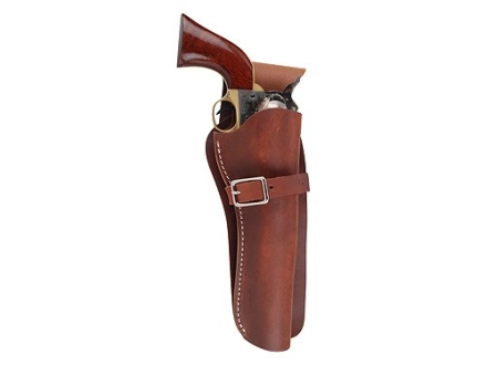 Oklahoma Leather Cowboy Drop-Loop Holster Right Hand Single Action 4-3/4&quot; Barrel Leather Brown