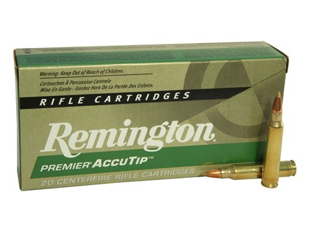 Remington Premier Varmint Ammunition 223 Remington 55 Grain AccuTip Box of 20