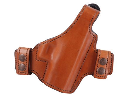 Bianchi Allusion Series 130 Classified Outside the Waistband Holster Right Hand Glock 26, 27, 33 Leather Tan
