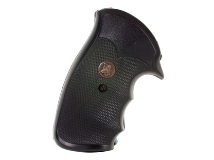 Pachmayr Gripper Grips with Finger Grooves S&amp;W K, L-Frame Square Butt Rubber Black