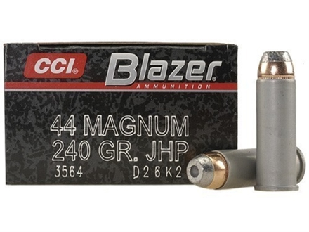 CCI Blazer Ammunition 44 Remington Magnum 240 Grain Jacketed Hollow Point Box of 50