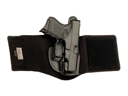 Galco Ankle Glove Holster Right Hand Walther PPK, PPK/S Leather with Neoprene Leg Band Black