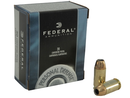 Federal Premium Personal Defense Ammunition 45 ACP 230 Grain Jacketed Hollow Point Box of 20