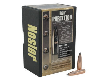 Nosler Partition Bullets 25 Caliber (257 Diameter) 120 Grain Spitzer Box of 50