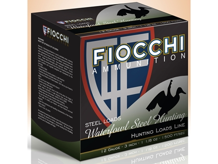 Fiocchi Speed Steel Ammunition 12 Gauge 3&quot; 1-1/8 oz #4 Non-Toxic Steel Shot Box of 25