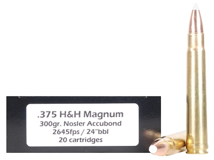 Doubletap Ammunition 375 H&amp;H Magnum 300 Grain Nosler AccuBond Spitzer Box of 20
