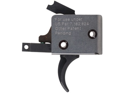 CMC Triggers Tactical Drop-In Trigger Group Curved AR-15 Small Pin .154&quot; Single Stage Matte