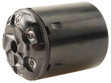 Howell&#39;s Old West Conversions Drop-In Conversion Cylinder 44 Caliber Pietta 1858 Remington Steel Frame Black Powder Revolver 45 Colt (Long Colt) 6-Round Blue