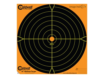 "Caldwell Orange Peel Target 16"" Self-Adhesive Bullseye Package of 10"