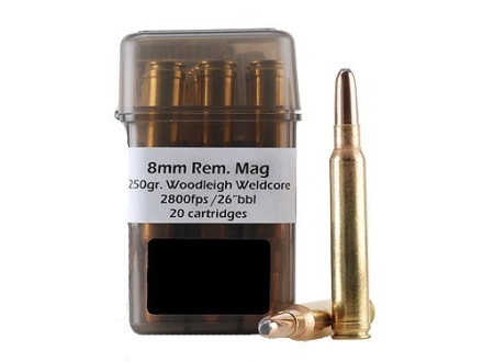 Doubletap Ammunition 8mm Remington Magnum 250 Grain Woodleigh Weldcore Box of 20
