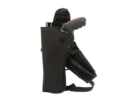 Bianchi 4101 Ranger HuSH Rig (Holster and Harness) Left Hand Medium and Large Frame Scoped Revolver 5.5&quot; to 6&quot; Barrel Nylon Black