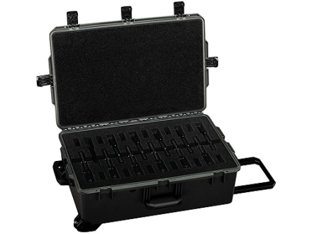 "Storm 12 Pack M9 Pistol & Magazine iM2950 Gun Case with Pre-Scored Foam Insert 31-1/3"" x 20-2/5"" x 12-1/5"" Polymer Black"