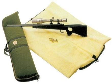 "Hunter Auto-Rest Scoped Rifle Gun Case 51"" Canvas Green"