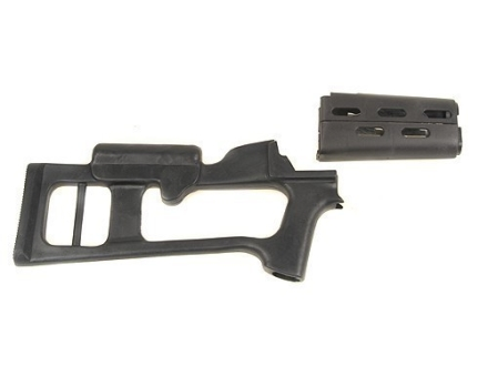 Advanced Technology Fiberforce Dragunov Style Stock with Handguard AK-47, MAK-90, Maadi 7.62x39mm Stamped Receivers Polymer Black